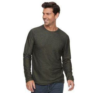 Marc Anthony Gray Knit Long Sleeve Pullover M
